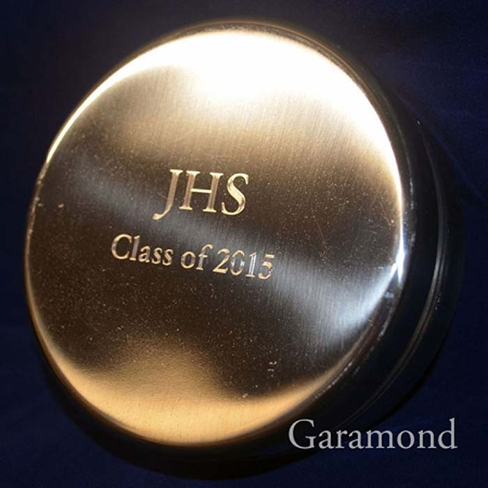 Engraved Lid JHS