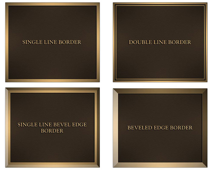 Border Styles for Plaques