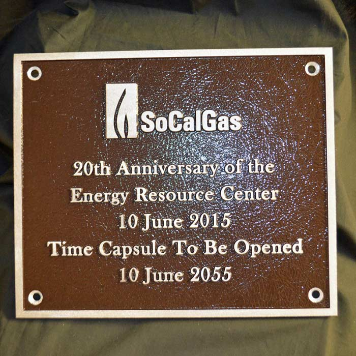 So Cal Gas Plaque