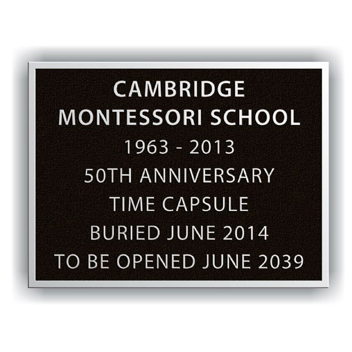 Cambridge 8x6 Plaque Aluminum