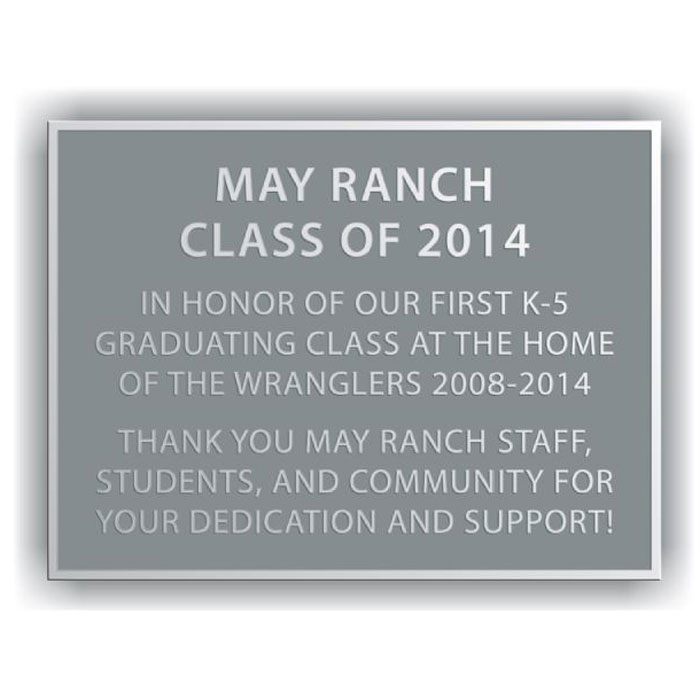 May Ranch Plaque 8x6