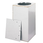 Bolted Time Capsule Chemist 14x14x30 Stainless Steel