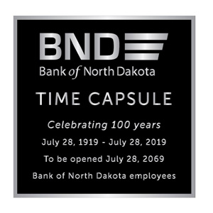 Bank of ND Plaque Wording