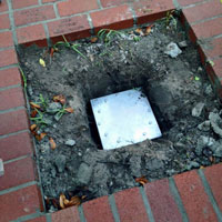 Example of buried bolted time capsule
