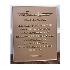 French Laundry Plaque in Natural
