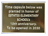 Small Plaque Marks Time Capsule Placement