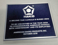 Time Capsule Plaque for Hakko Shows Placement
