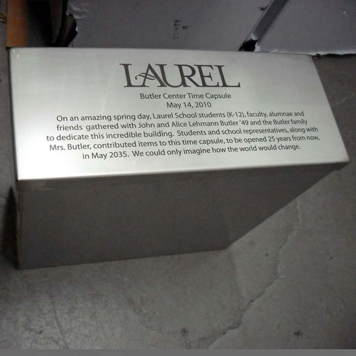 Laurel Time Capsule Engraved