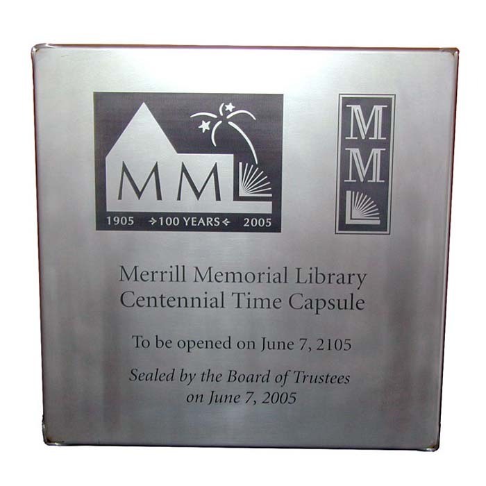 Merrill Laser Engraved Time Capsule