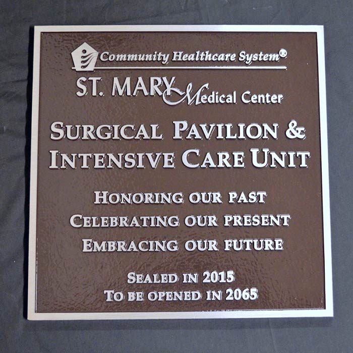 St MaryMC Plaque