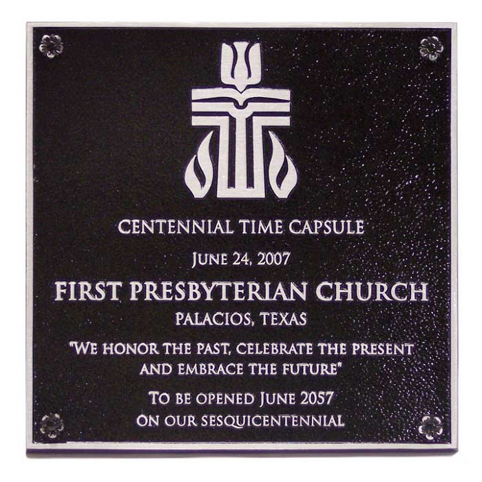 First Presbyterian Plaque