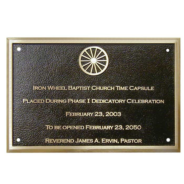 Iron Wheel Plaque