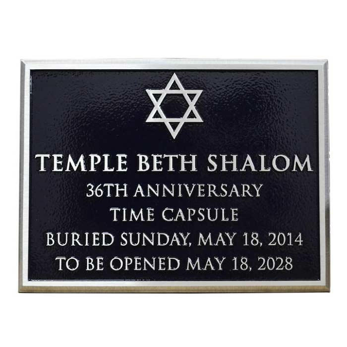 Temple Beth Plaque 8x6