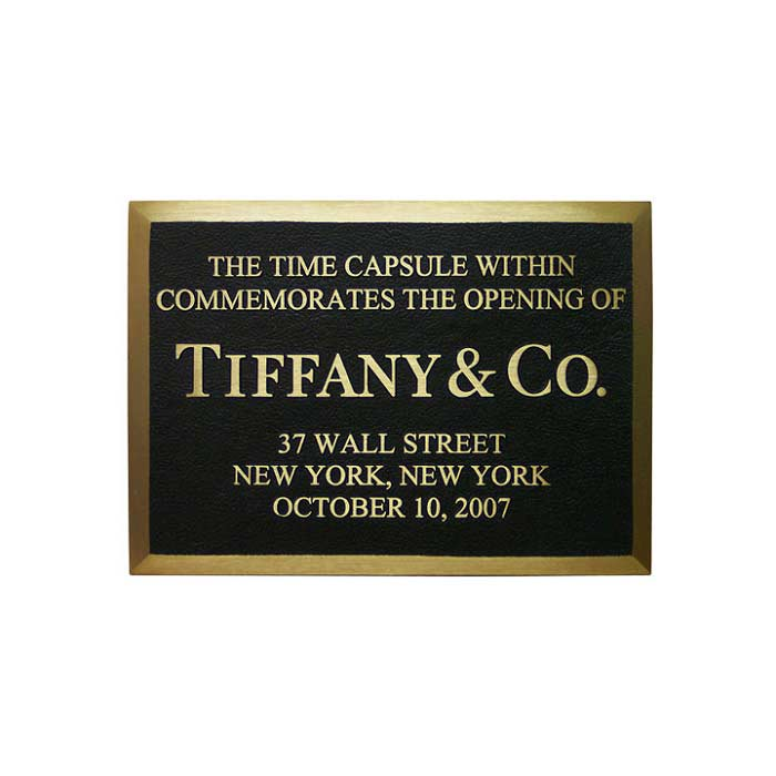 Use a Plaque for Time Capsule Remembrance