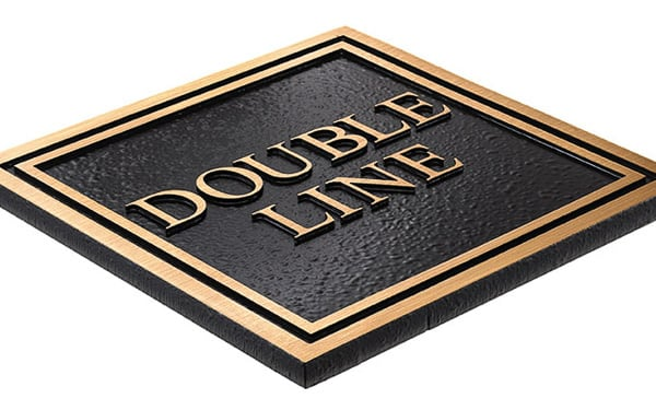 Double Line Border for Plaques