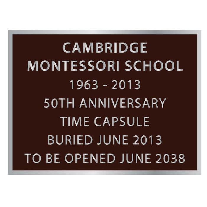 Cambridge 8x6 plaque