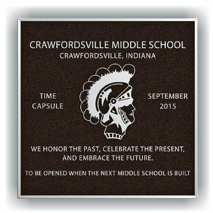 Crawfordsville Plaque 12x12