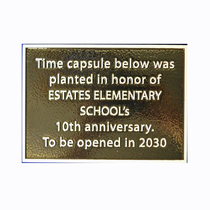 Estates School 7x5 Plaque