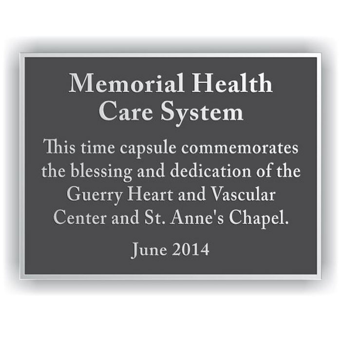 Memorial Health Plaque 8x6