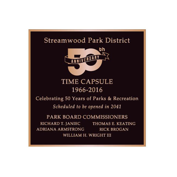 Streamwood Parks 12x12 Plaque