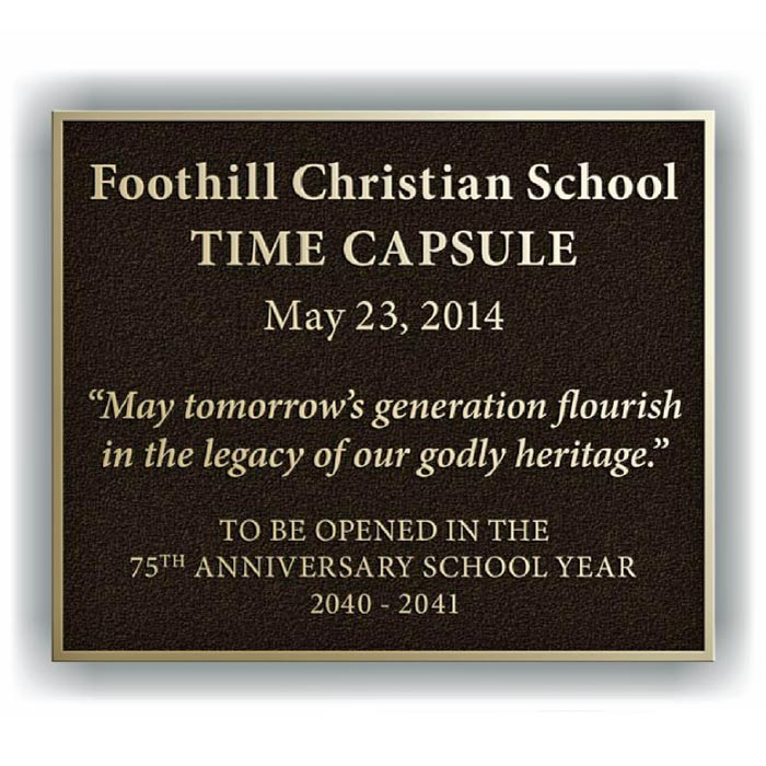 Foothill Plaque 12x10