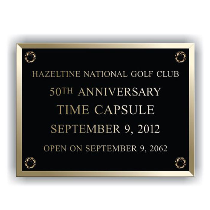 Hazeltine Bronze Plaque 8x6