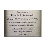 Etched Plaque Stainless Steel 5x7