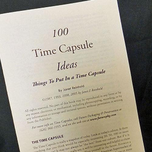 booklet time capsule ideas com 100 time capsule ideas leaflet