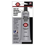 Silicone Sealant Gray XS Pro Seal 3 oz Tube