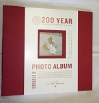 Album Red 12x12 Post Bound Cloth Scrapbook Black Pages