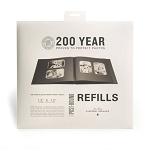 Refill Pages Black 12x12 Post Scrapbook with 2 extenders