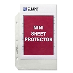 Sheet Protectors Mini Half Letter, 8.5 x5.5 Pack of 50