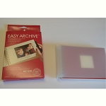 Photo Album Archival Easy Archive Red with Cream Pages for 4x6 Photos