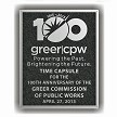 8x10 aluminum plaque for Greer's 100th