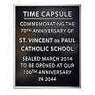 Example of an 8x10 plaque for St Vincent