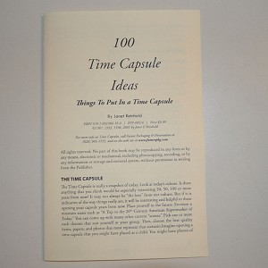100 Time Capsule Ideas Leaflet