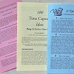 3 main info pamphlets for time capsule preparation