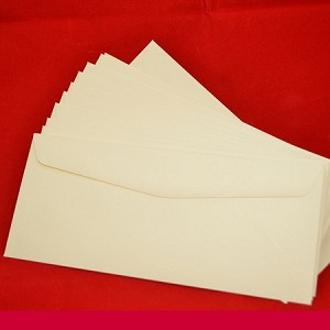 Fine blank #10 size envelopes match the printed Time Capsule stationery