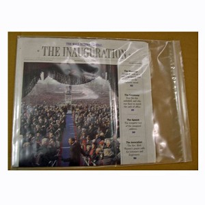 Large 12x15 zip bag is thick & protective, makes a handy holder for newspapers, tabloids