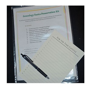 Genealogy Basics Preservation Kit