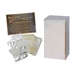 Time Capsule Package Aries 16x16x30 with Large Kit and 8x10 Plaque